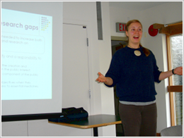 Emma, speaking at the 2007 Introductory Seminar